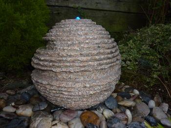 Rustic Sphere in Pink Granite 0.4m