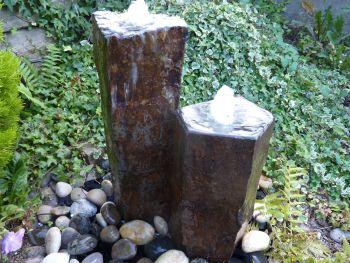 Set of 2 Polished Basalt Columns