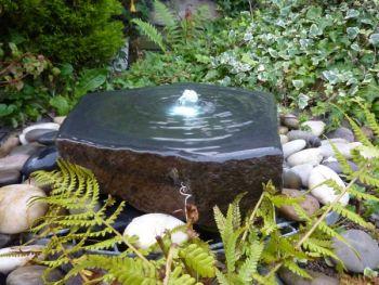 Polished Basalt Slab Feature