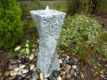 Twisted Fountain in Natural Marble 0.4m