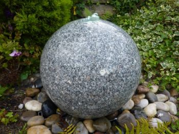 Stone Sphere Feature in Natural Granite