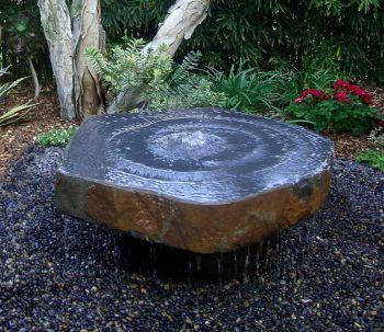 Polished Basalt Slab Feature - Large