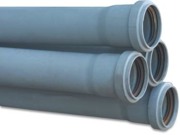 Discharge Pipe - Ø75mm x 500mm (Grey)