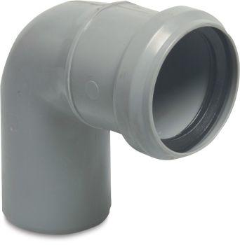 Discharge Elbow - Ø75mm x 90° (Grey)