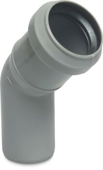Discharge Elbow - Ø75mm x 45° (Grey)