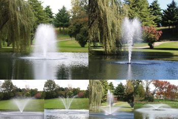6-in-1 Floating Aerating Fountain