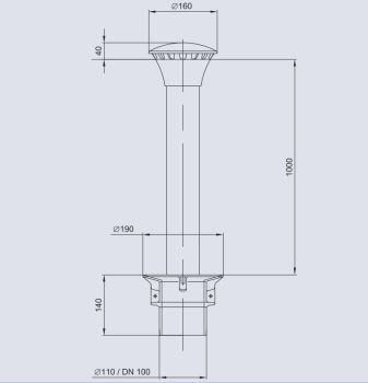 Overflow/Drain Armature 100/1000T