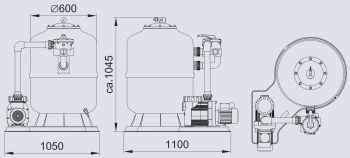OASE D800 Sand Filter Set