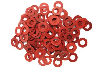 20 x Fiberplate DIN 7603 6mm x 12mm x 1mm Washers
