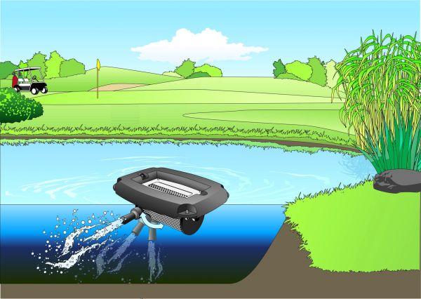 solar panel controller wiring diagram aqua air 250 lm floating lake aerator | lake management ... solar pond aeration wiring diagram #10